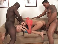 Kitty Jane and Olga Berz both go crazy about black cocks. There are team a few dicks for them. They take black rods surrounding their mouths. pussies and assholes before their dark skinned fuck buddies cum.