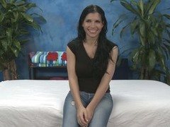 Latina girl in jeans Rebecca