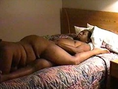 Fat ebony couple in hot homemade porn