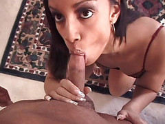 Chap-fallen Ebony Enjoys Getting Fine Facial After Admirable Deepthroat